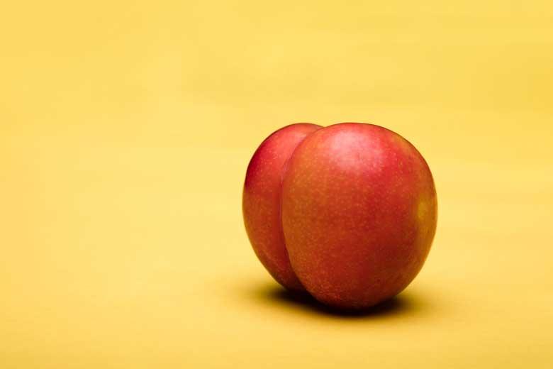 Frukt som liknar en rumpa