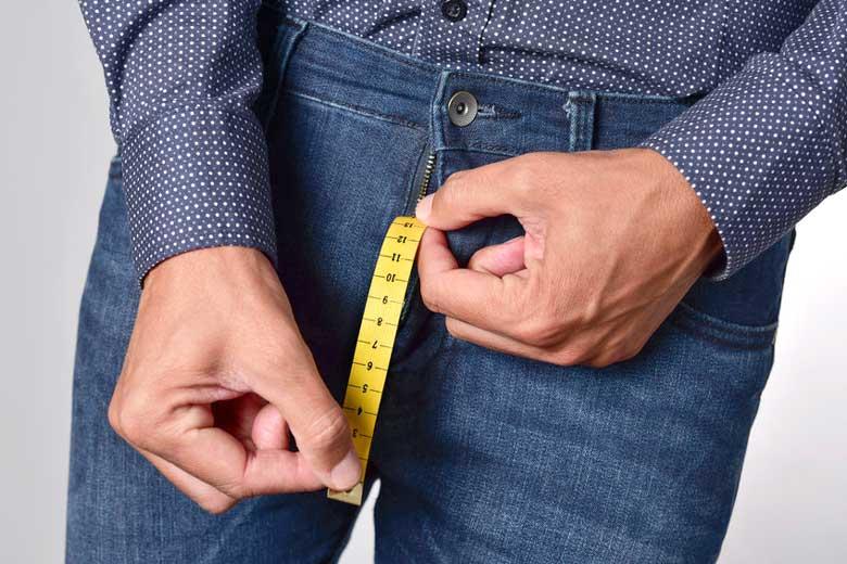 Man mäter inför penisförlängning